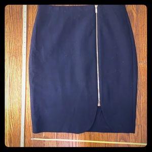 NWOT Ann Taylor navy blue zipper pencil skirt 12